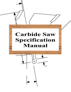 Carbide Saw Specification Manual Book Cover